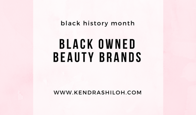 Black-Owned Beauty Brands//black history month